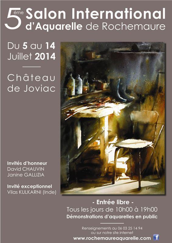 5ème biennale d'aquarelle de Rochemaure Ardèche