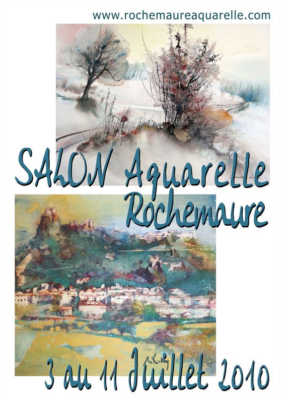 3ème biennale d'aquarelle de Rochemaure Ardèche