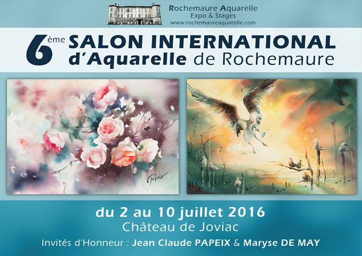 6ème biennale d'aquarelle de Rochemaure Ardèche