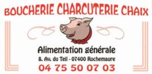 Boucherie Chaix Rochemaure Partenaire Rochemaure Aquarelle Biennale Stages 2018