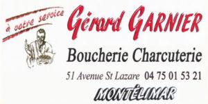 Garnier Boucherie Montélimar Partenaire Rochemaure Aquarelle Biennale Stages 2018