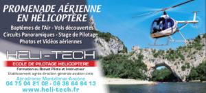 Heli-Tech Promenade Aérienne Hélicoptère Montélimar Ardèche Partenaire Rochemaure Aquarelle Biennale Stages 2018