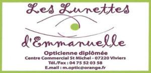 Les Lunettes d'Emmanuelle Opticienne Viviers Partenaire Rochemaure Aquarelle Biennale Stages 2018