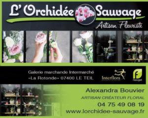 L'Orchidée Sauvage Fleuriste Le Teil Partenaire Rochemaure Aquarelle Biennale Stages 2018