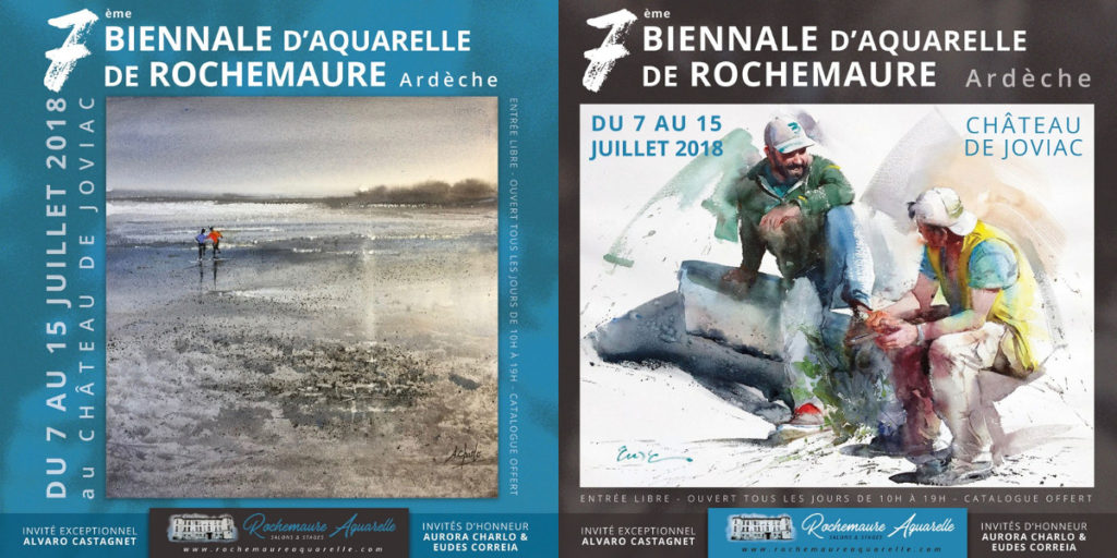 Rochemaure Aquarelle Salons et Stages Ardèche
