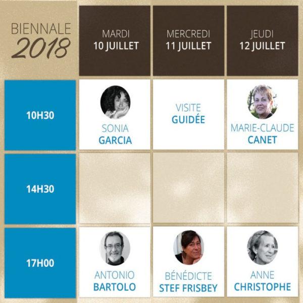 Rochemaure Aquarelle Biennale 2018 Planning des Démonstrations