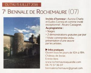 L'Art de l'Aquarelle Biennale 2018 Rochemaure Aquarelle Ardèche