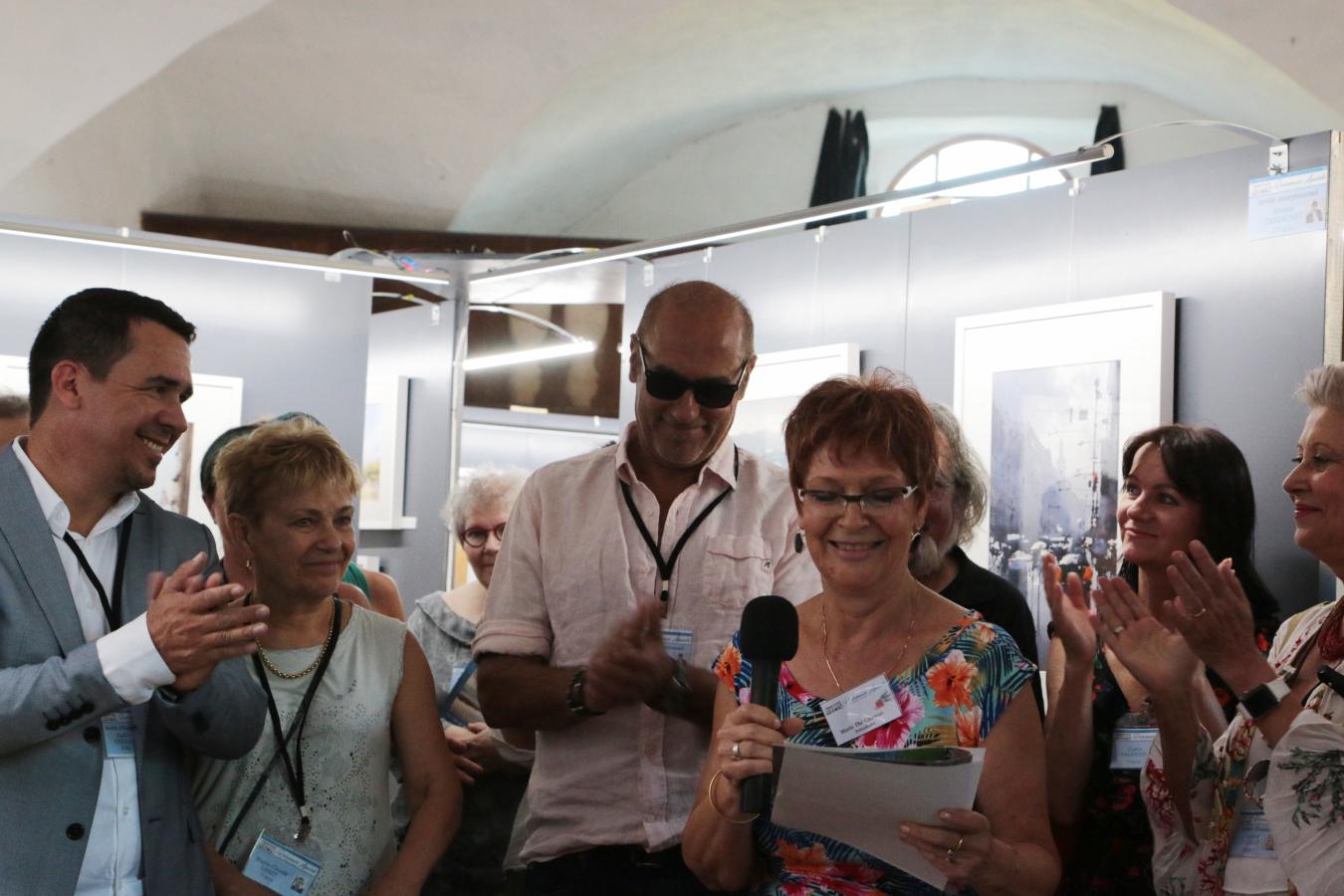 Vernissage Biennale 2018 Rochemaure Aquarelle Ardèche